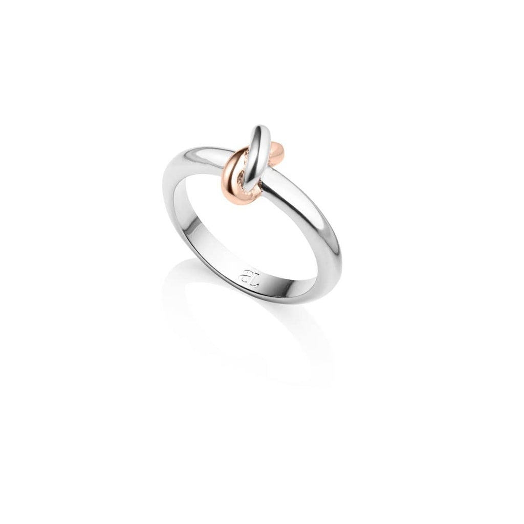 Knot Ring (Silver/Rose)