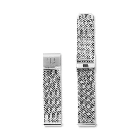 Silbernes Mesh Armband 34 (Silver)