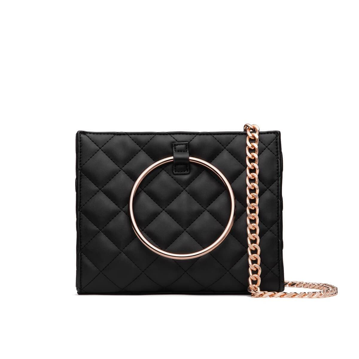 Jet Black Quilted Moda (Rose Gold)