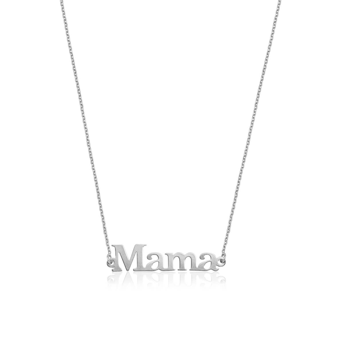 Sterling Silver Editorial Name Necklace (Silver)