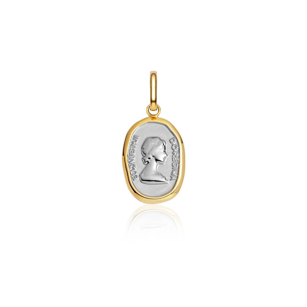 Selected Queen Pendant (Yellow Gold/Silver)