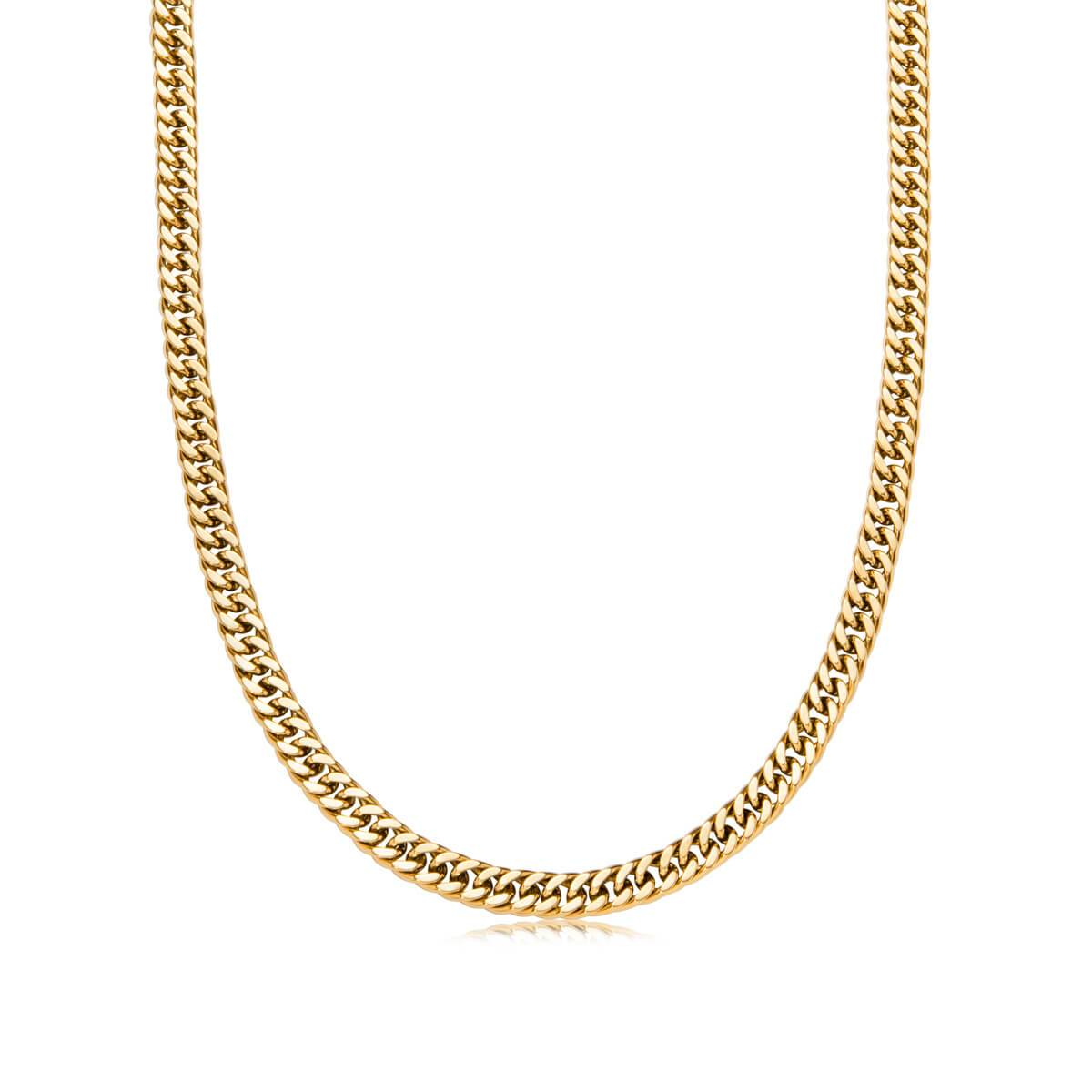 Curb Chain Necklace 16 in (Gold)