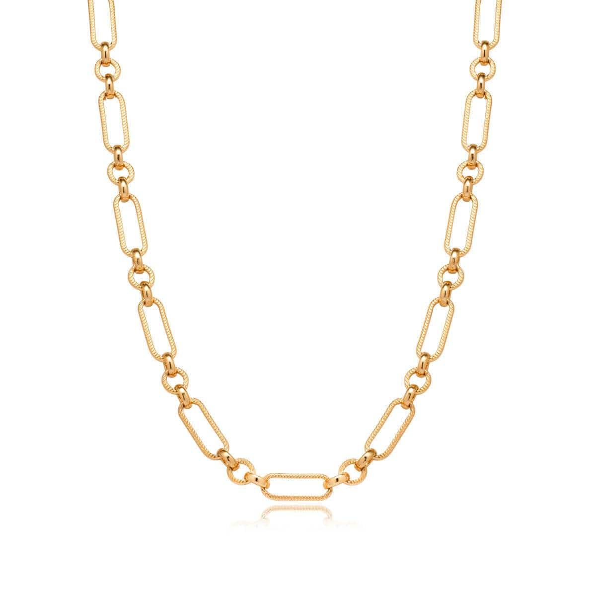 Figaro Chain Necklace (Gold)