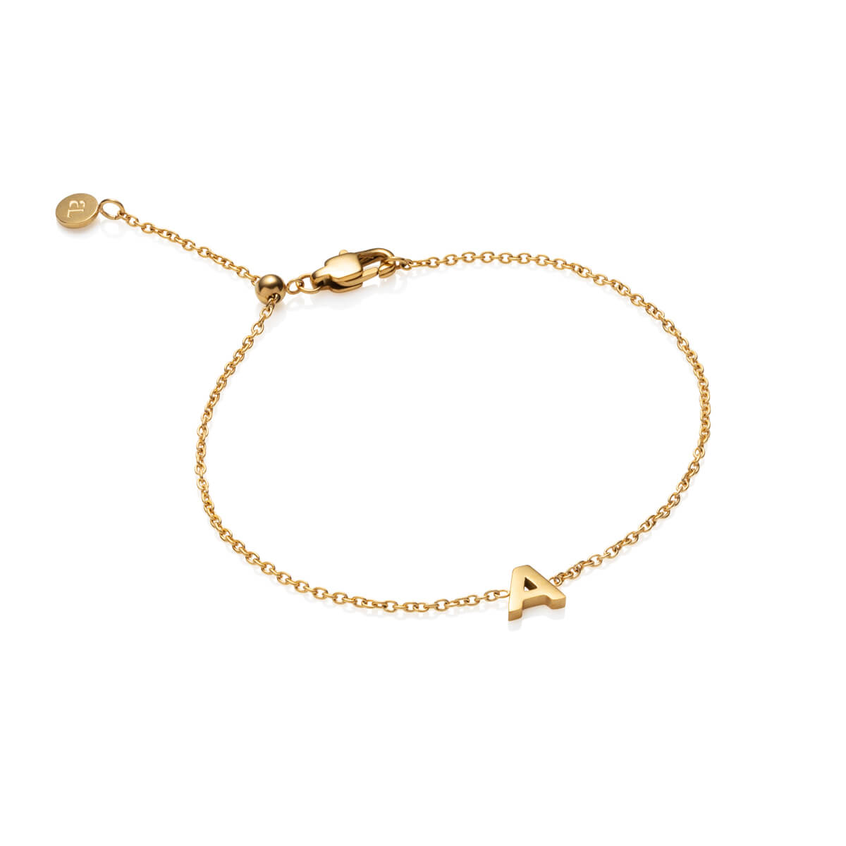 Little Luxe Letter Bracelet (Gold)