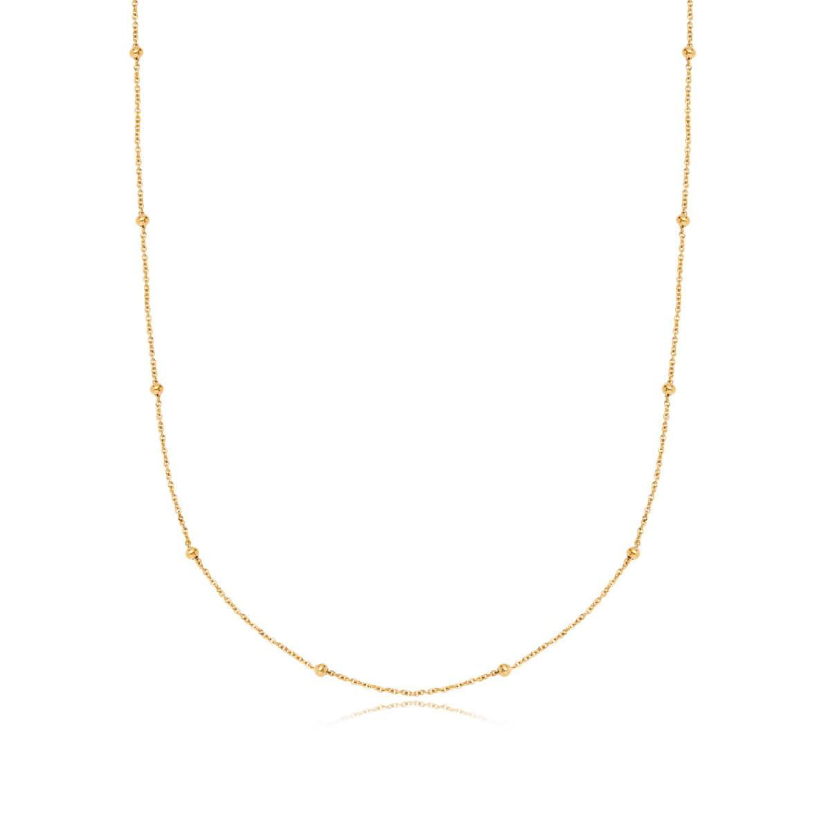 Sphere Chain Necklace 16 in (Gold)