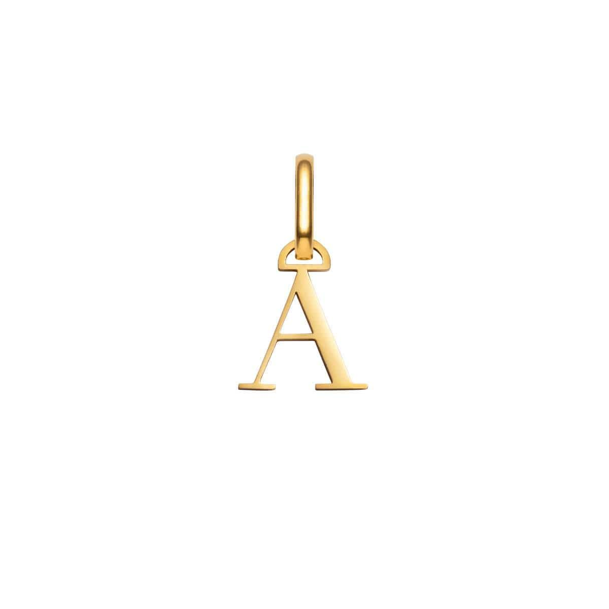 Selected Letter Pendant (Gold).