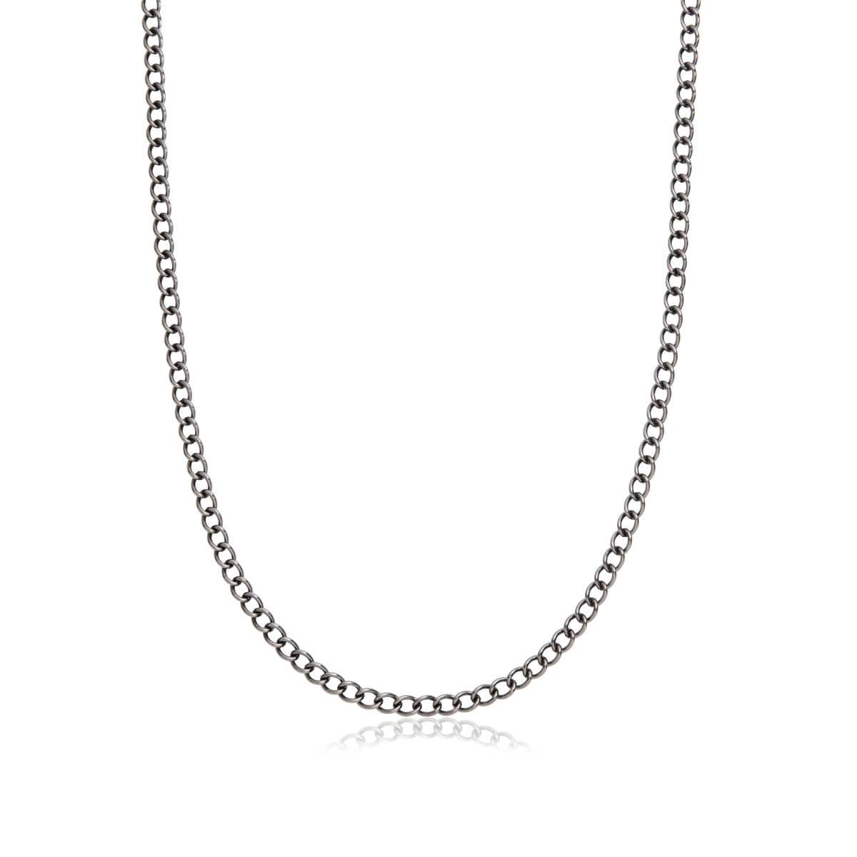 Curb Chain Necklace 20 in (Gun Silver)