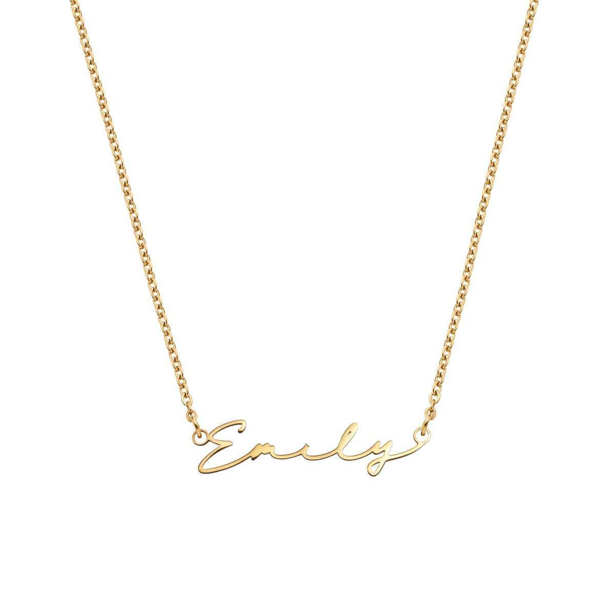 Signature Name Necklace (Gold).