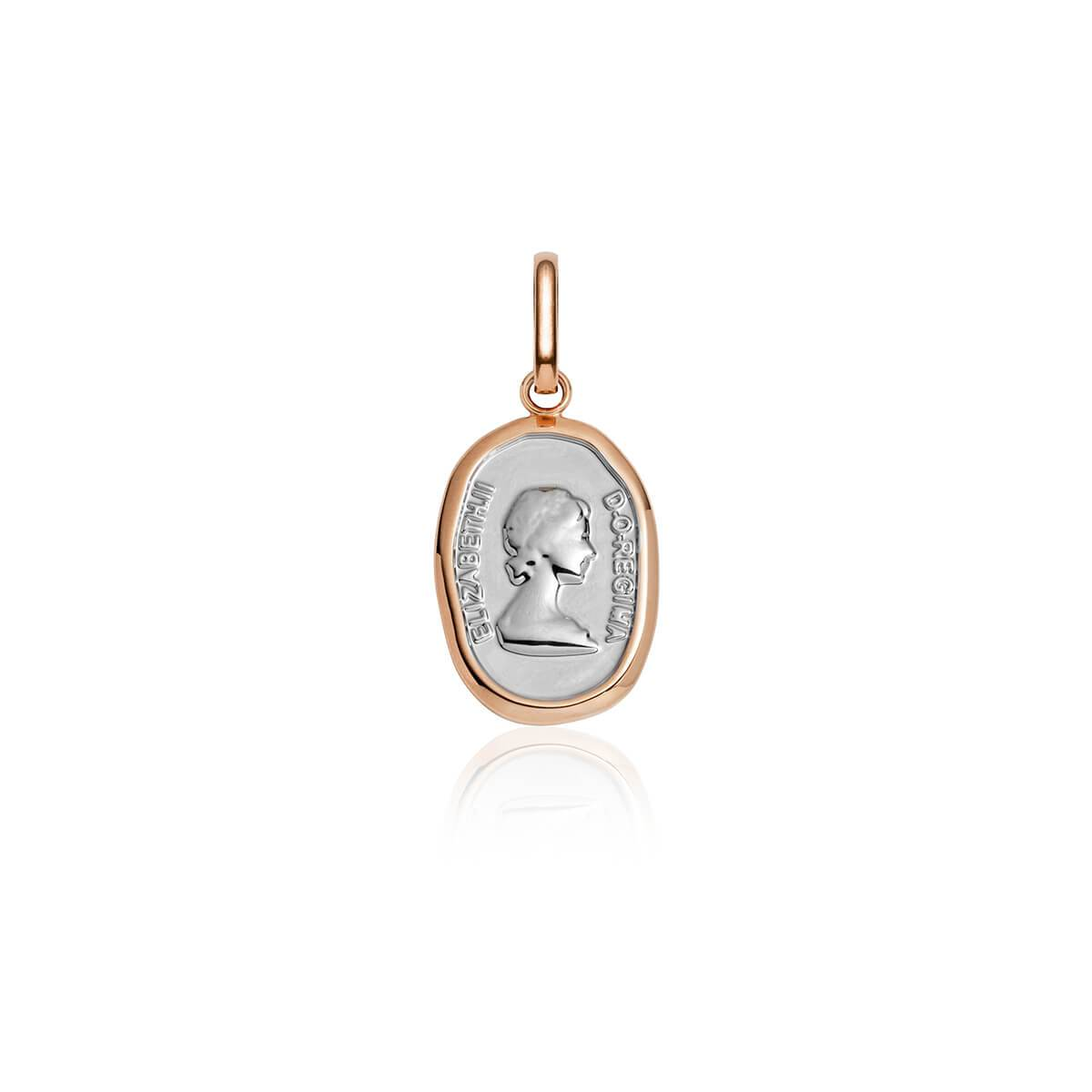 Selected Queen Pendant (Rose Gold/Silver)