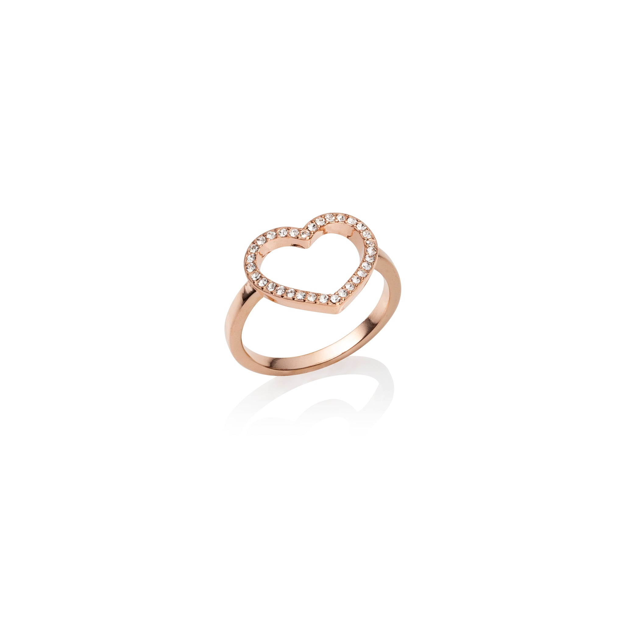 Crystal Heart Ring (Rose Gold)