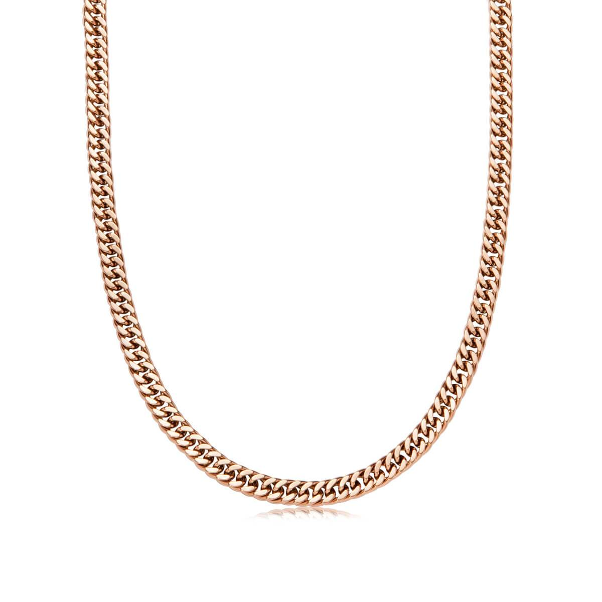 Curb Chain Necklace 16 in (Rose Gold)