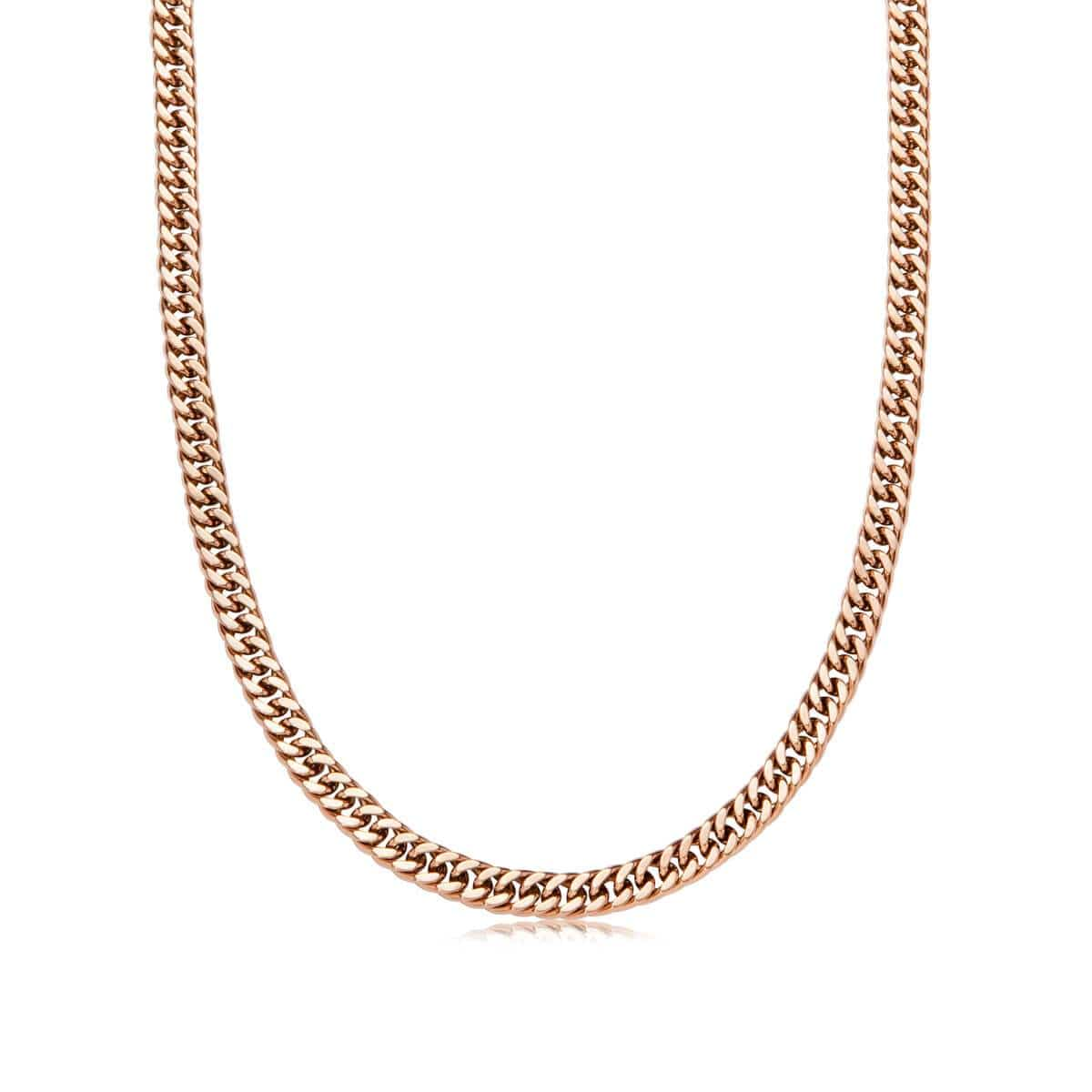 Selected Curb Chain Necklace (Rose Gold)