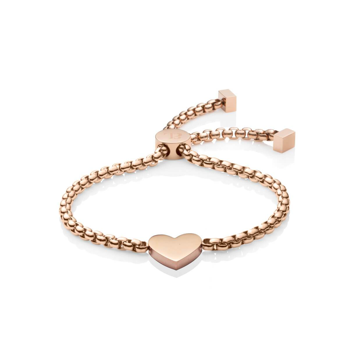 Personalise Heart Bracelet (Rose Gold)