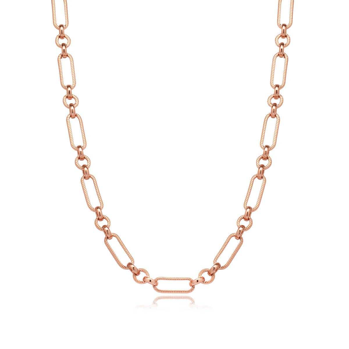 Figaro Chain Necklace (Rose Gold)