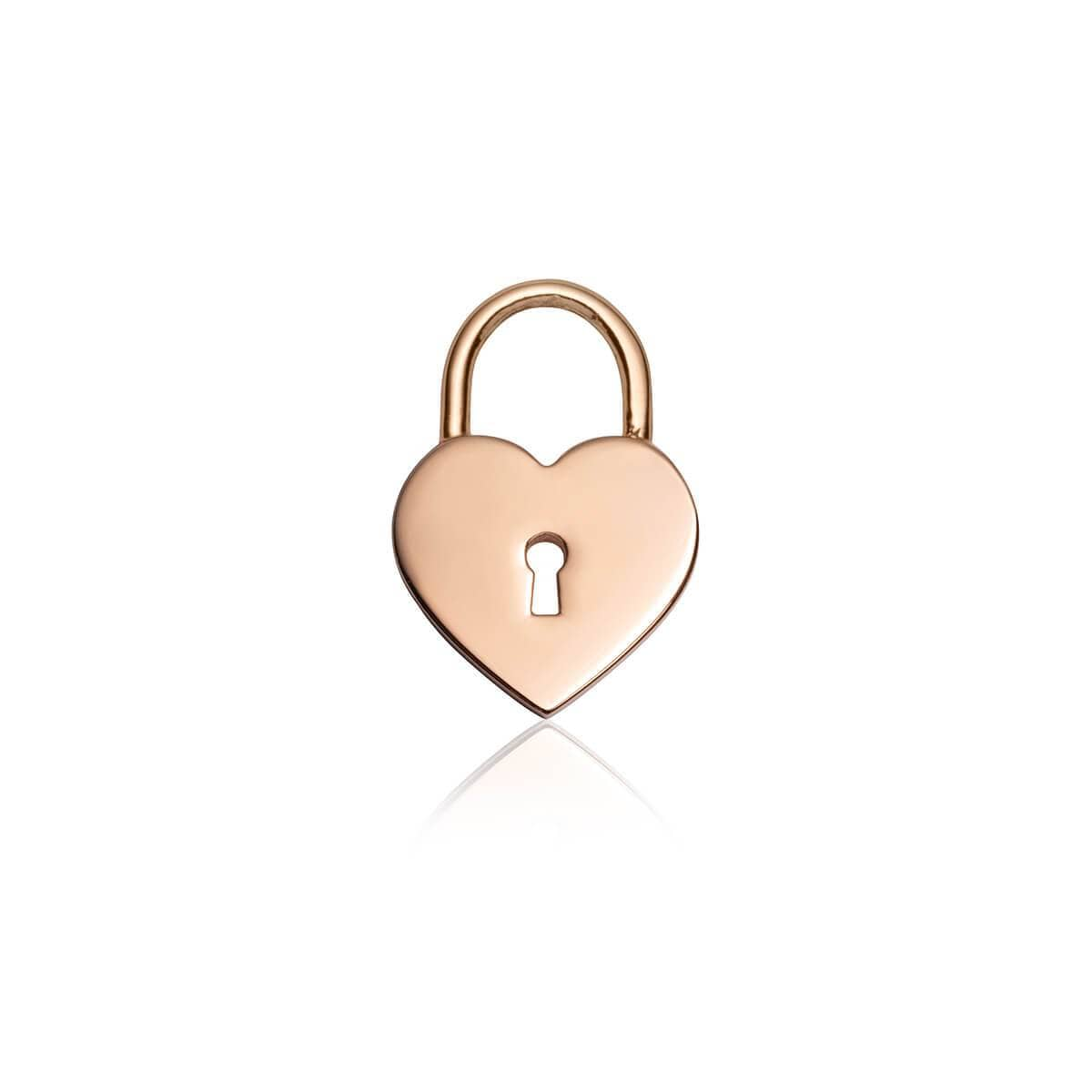 Heart Padlock Pendant (Rose Gold)