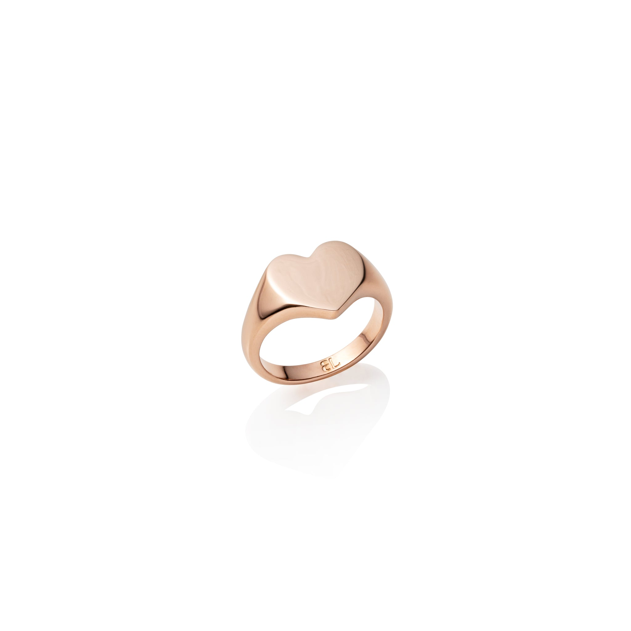 Heart Signet Ring (Rose Gold)
