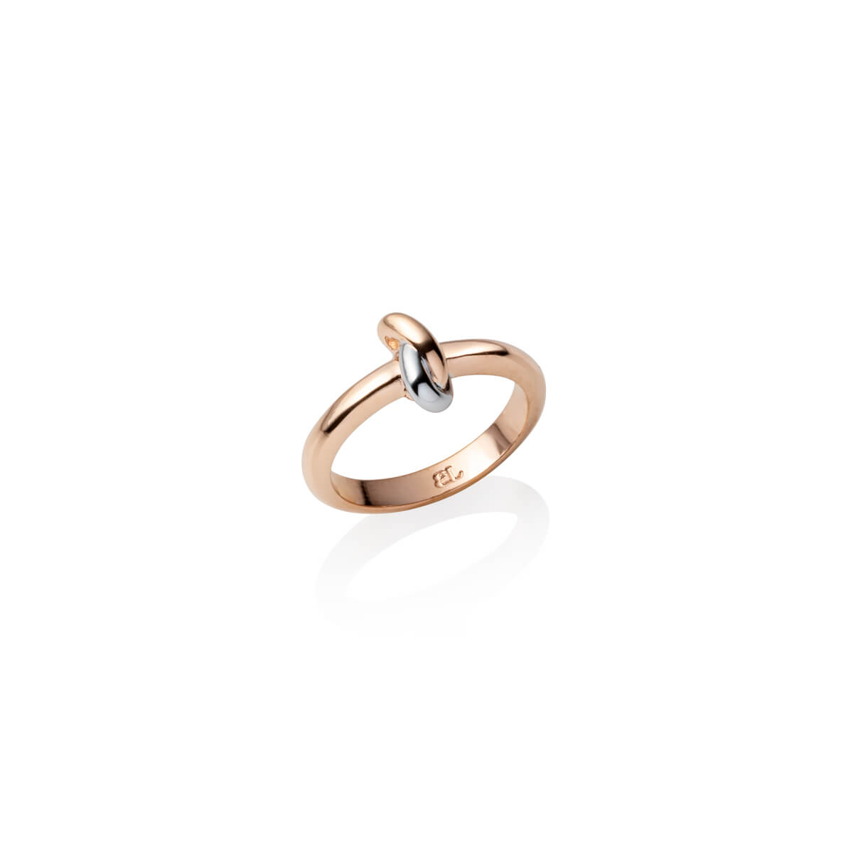 Knot Ring (Rose Gold/Silver)
