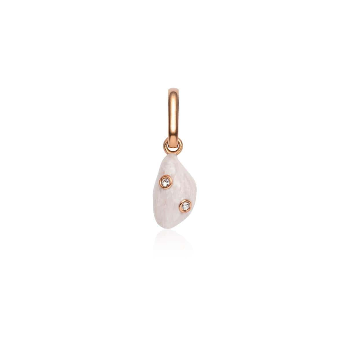 Pearl Crystal Pendant (Rose Gold)