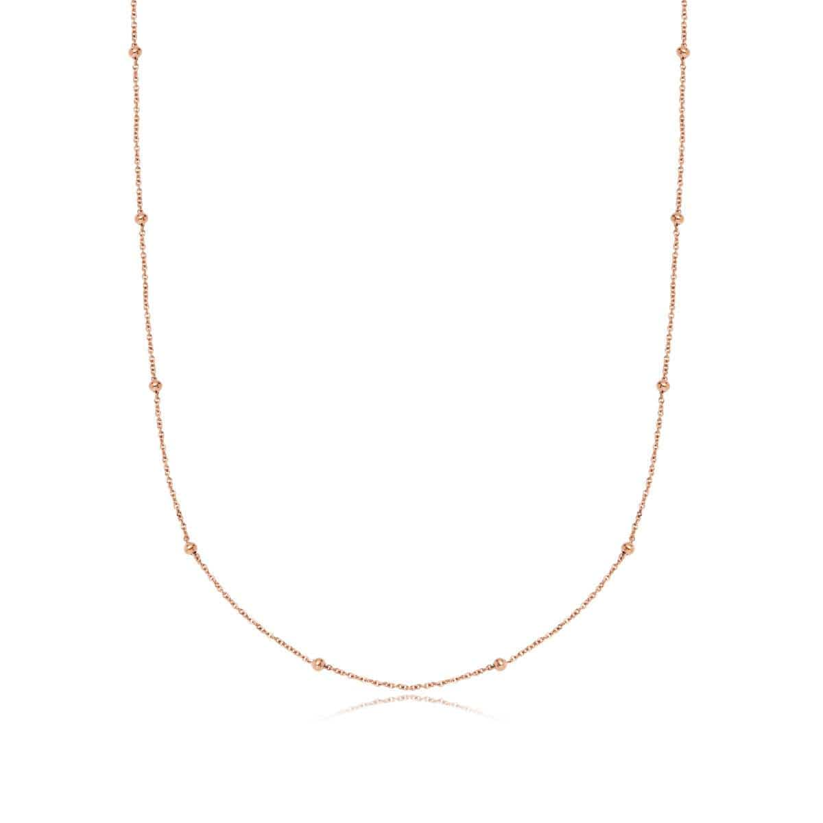 Sphere Chain Necklace 20 in (Rose Gold)