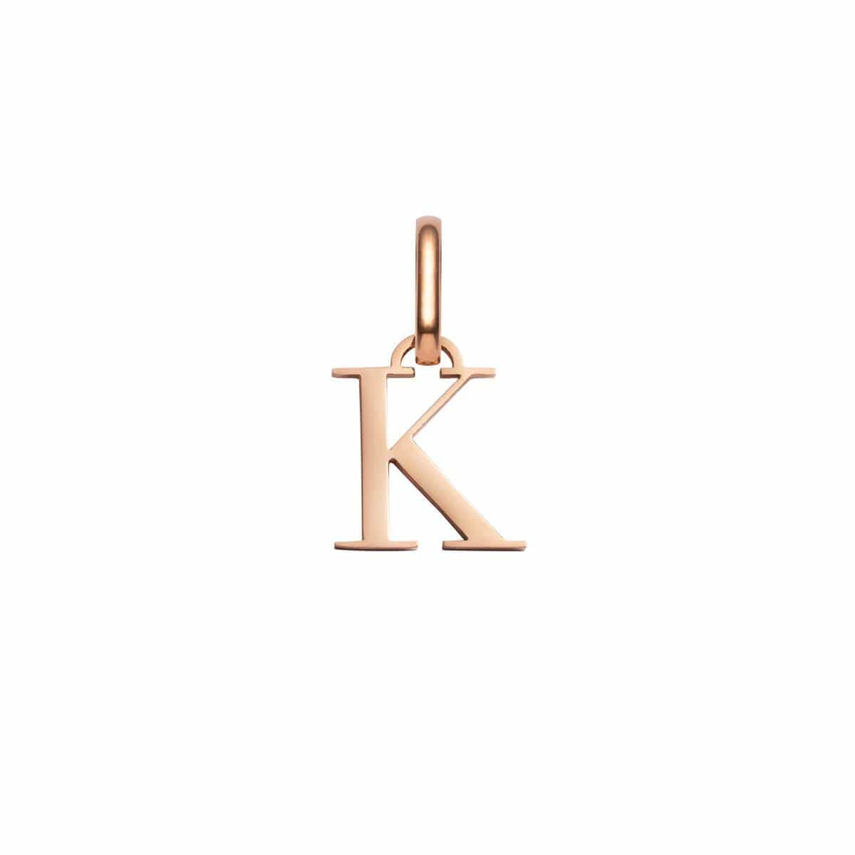 Letter Pendant (Rose Gold)