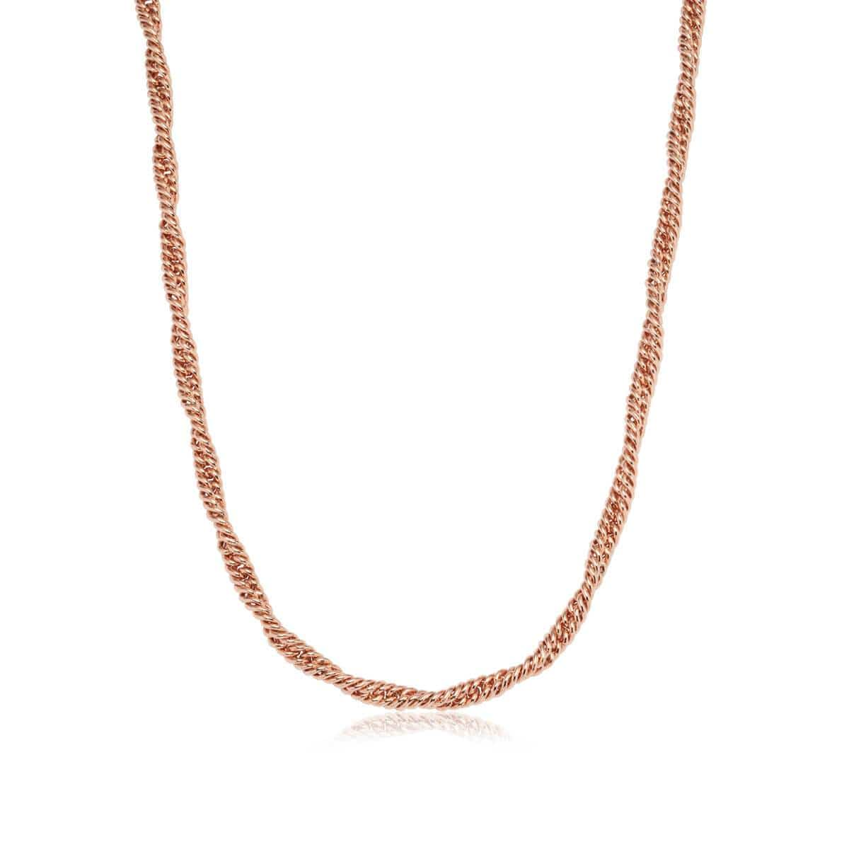 Selected Rope Chain Necklace (Rose Gold)