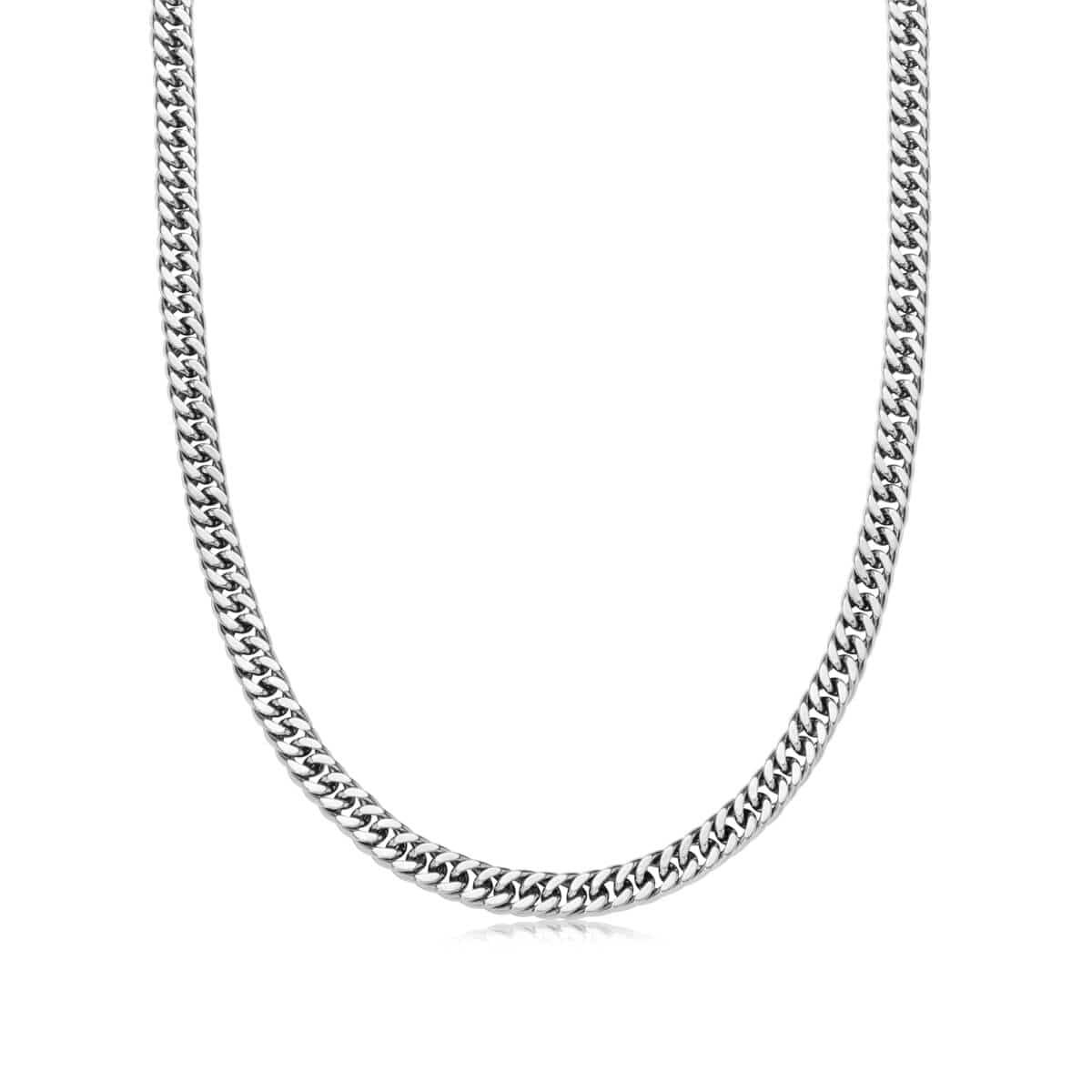 Curb Chain Necklace (Silver)