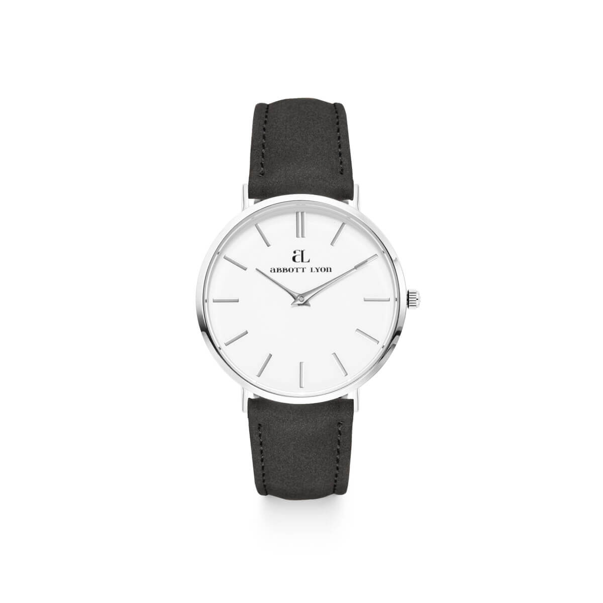 Jet Black Strap White Kensington 36