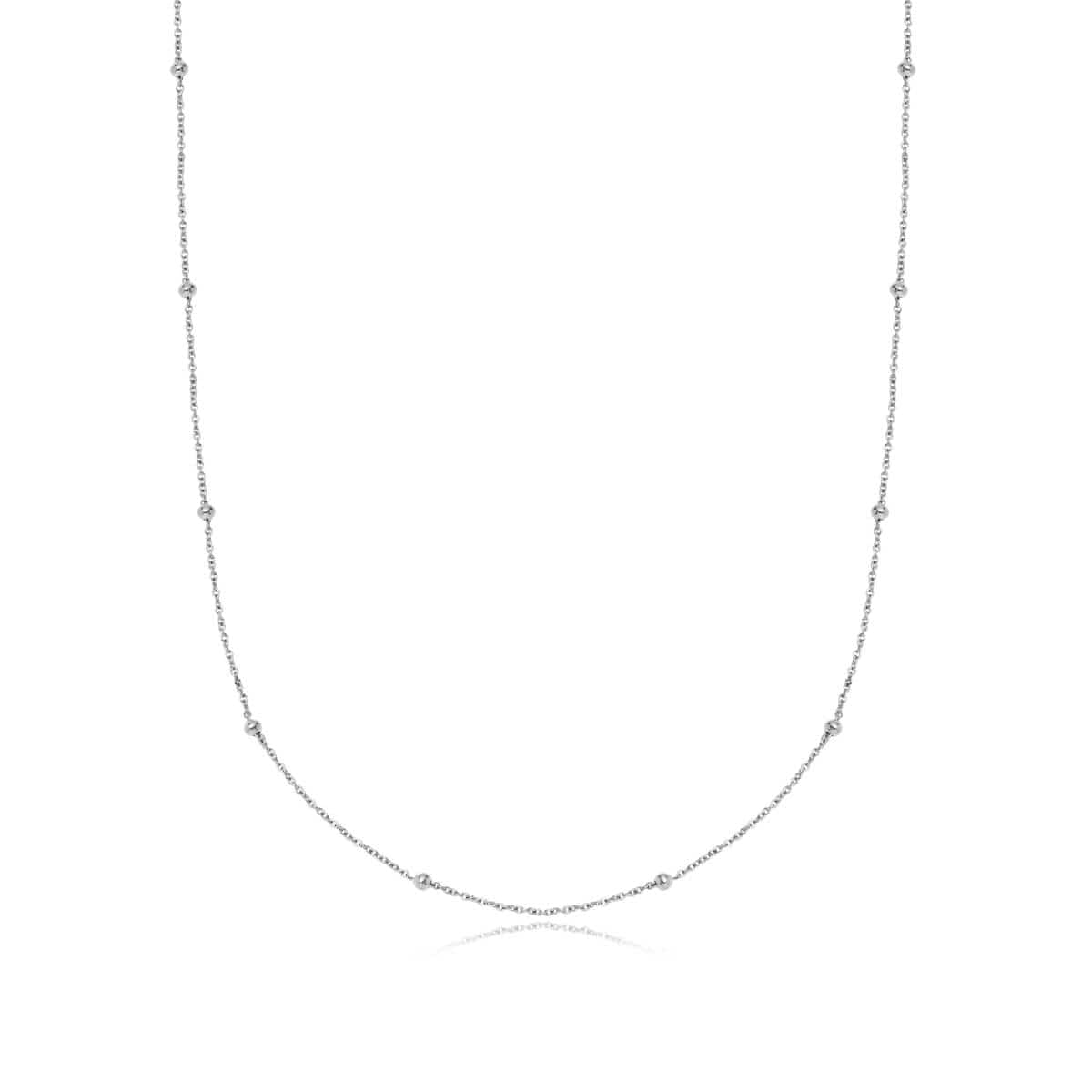 Selected Sphere Chain Necklace 20 in (Silver)