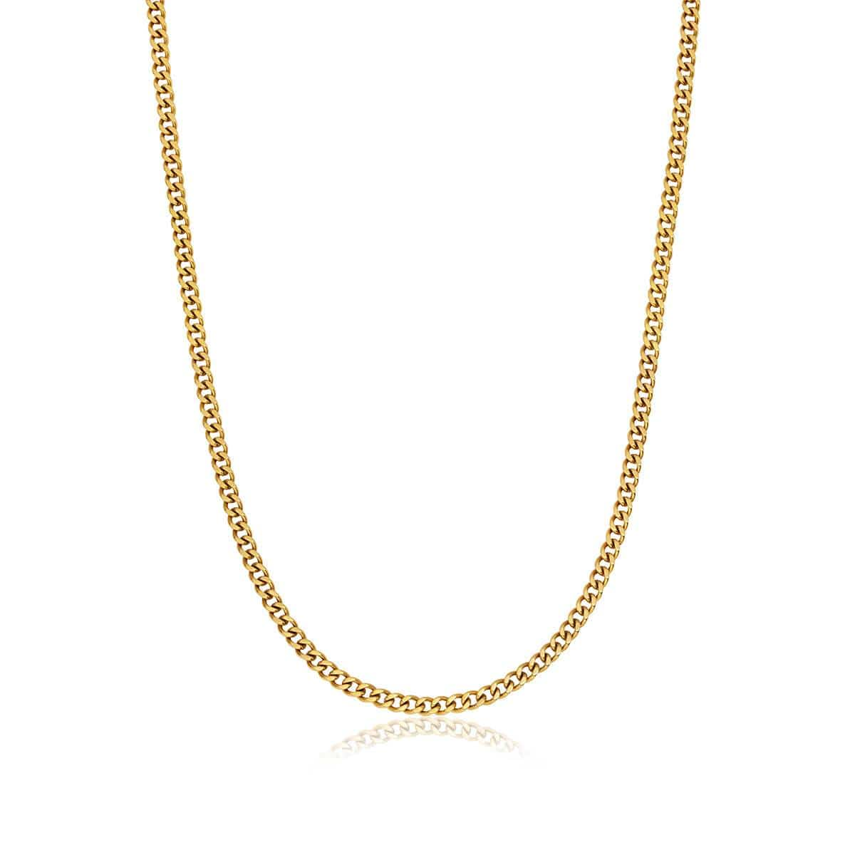 Selected Small Curb Chain Necklace (Gold)