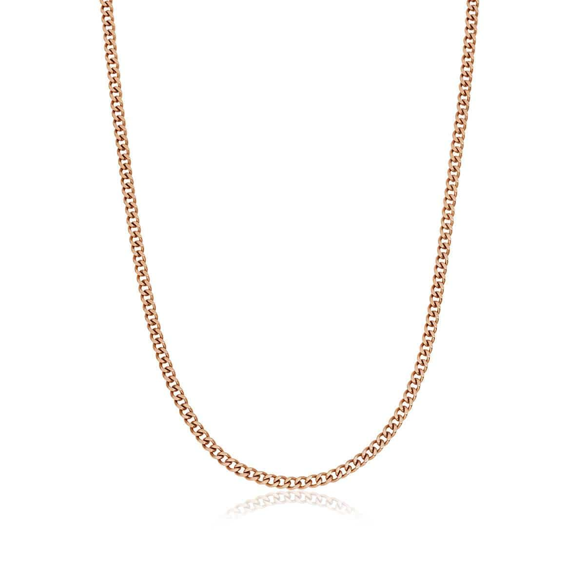Selected Small Curb Chain Necklace (Rose Gold)