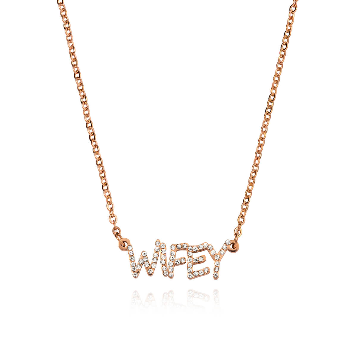 Crystal Name Necklace (Rose Gold)