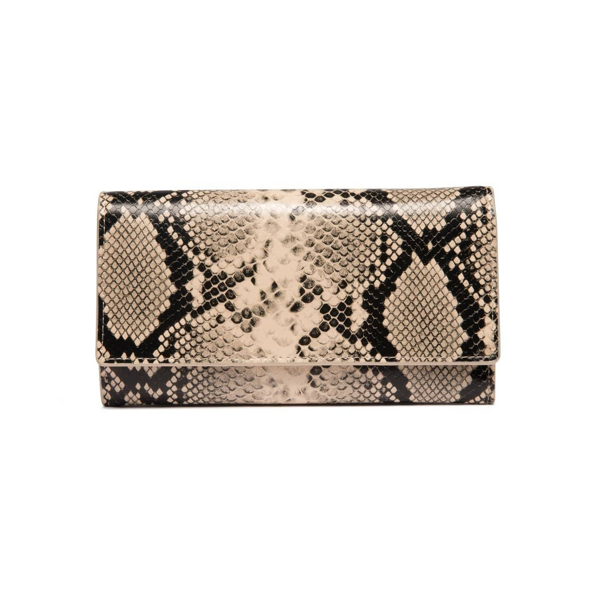 Cream & Black Snakeskin Bella Geldbörse