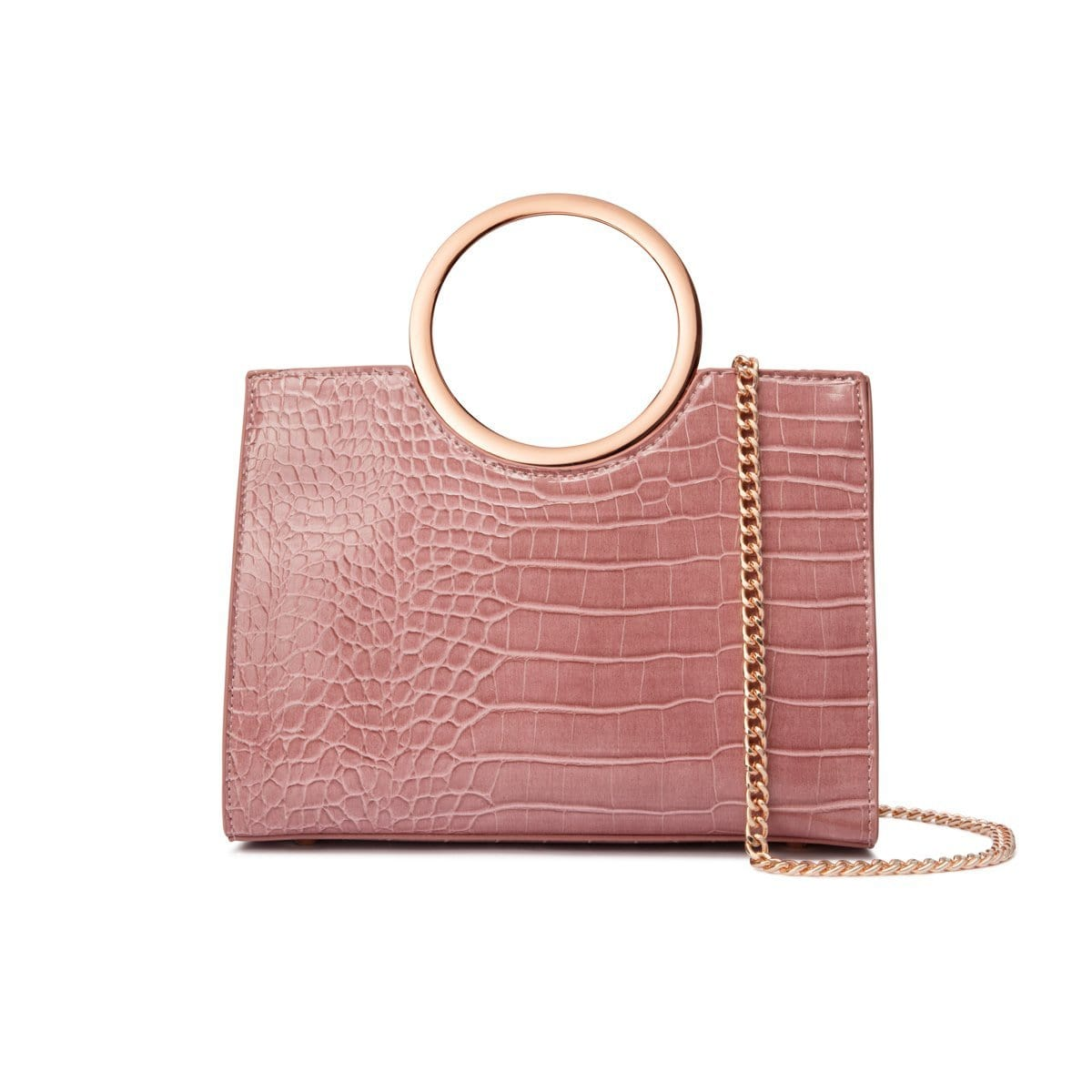 Dusky Rose Arora Handbag Rose Gold