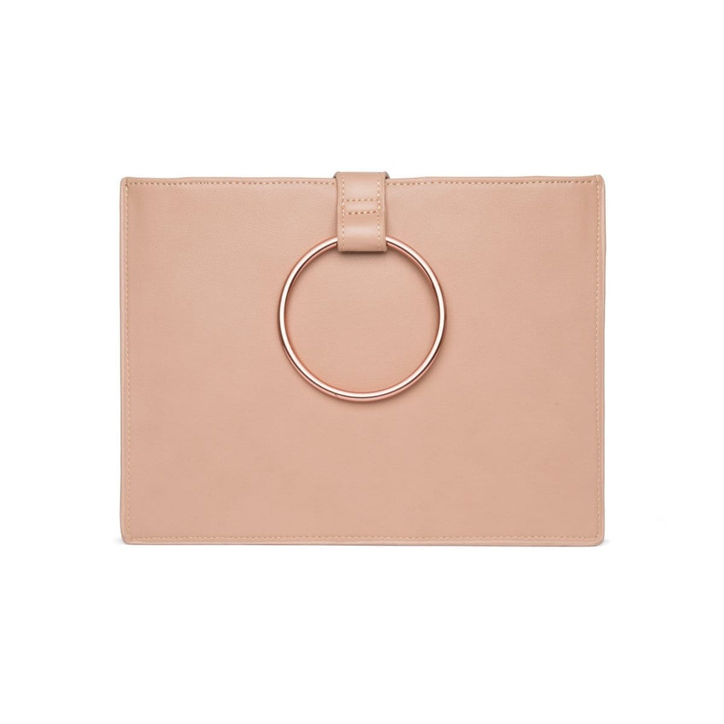 Maia Clutch (Taupe/Rose Gold)