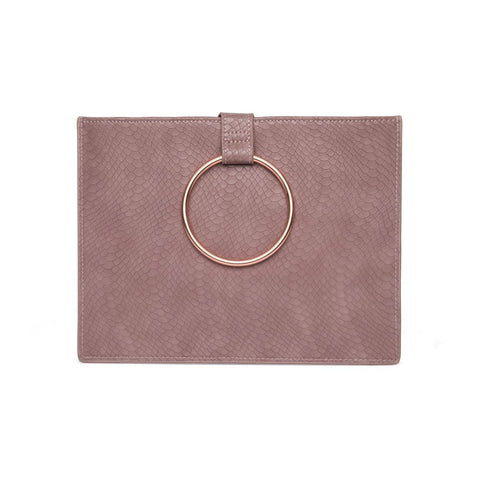 Maia Clutch (Mauve/Rose Gold)