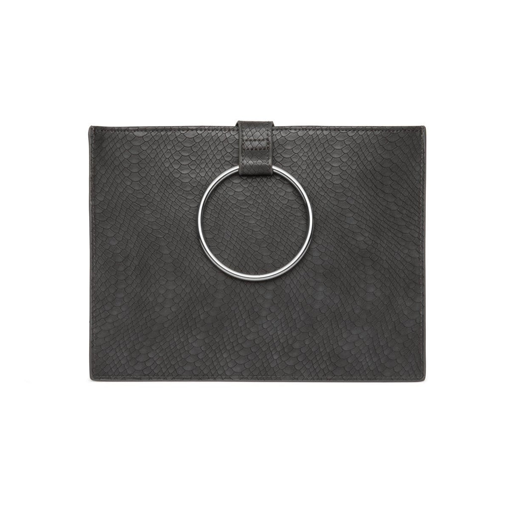 Maia Clutch (Charcoal/Silver)