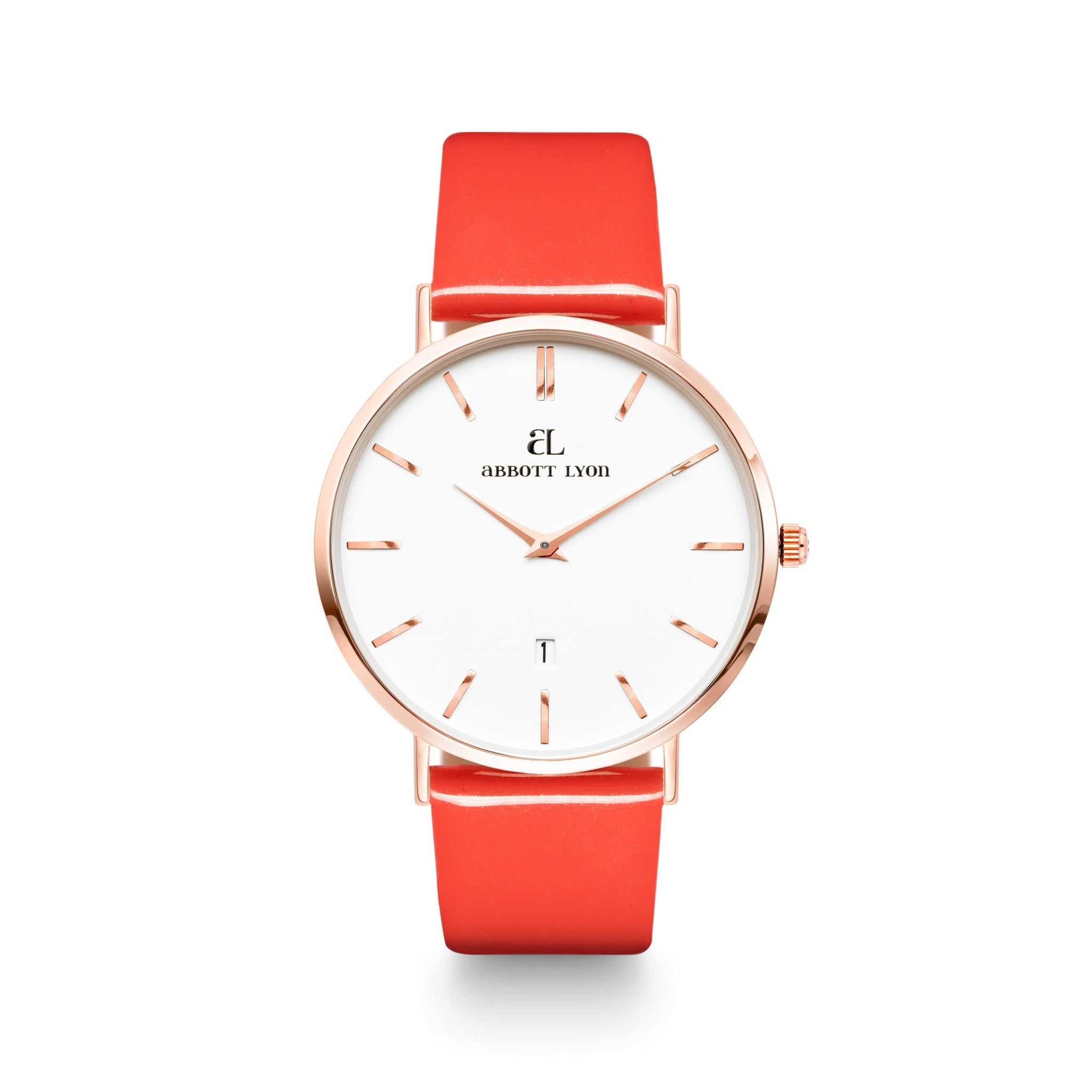 Coral Patent Armband 40 (Rose Gold)