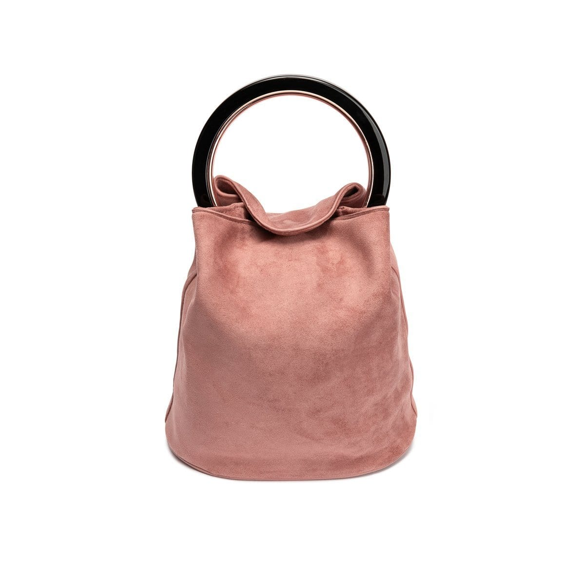 Sofia Handle Bag Dusky Nude (Black/Rose Gold)
