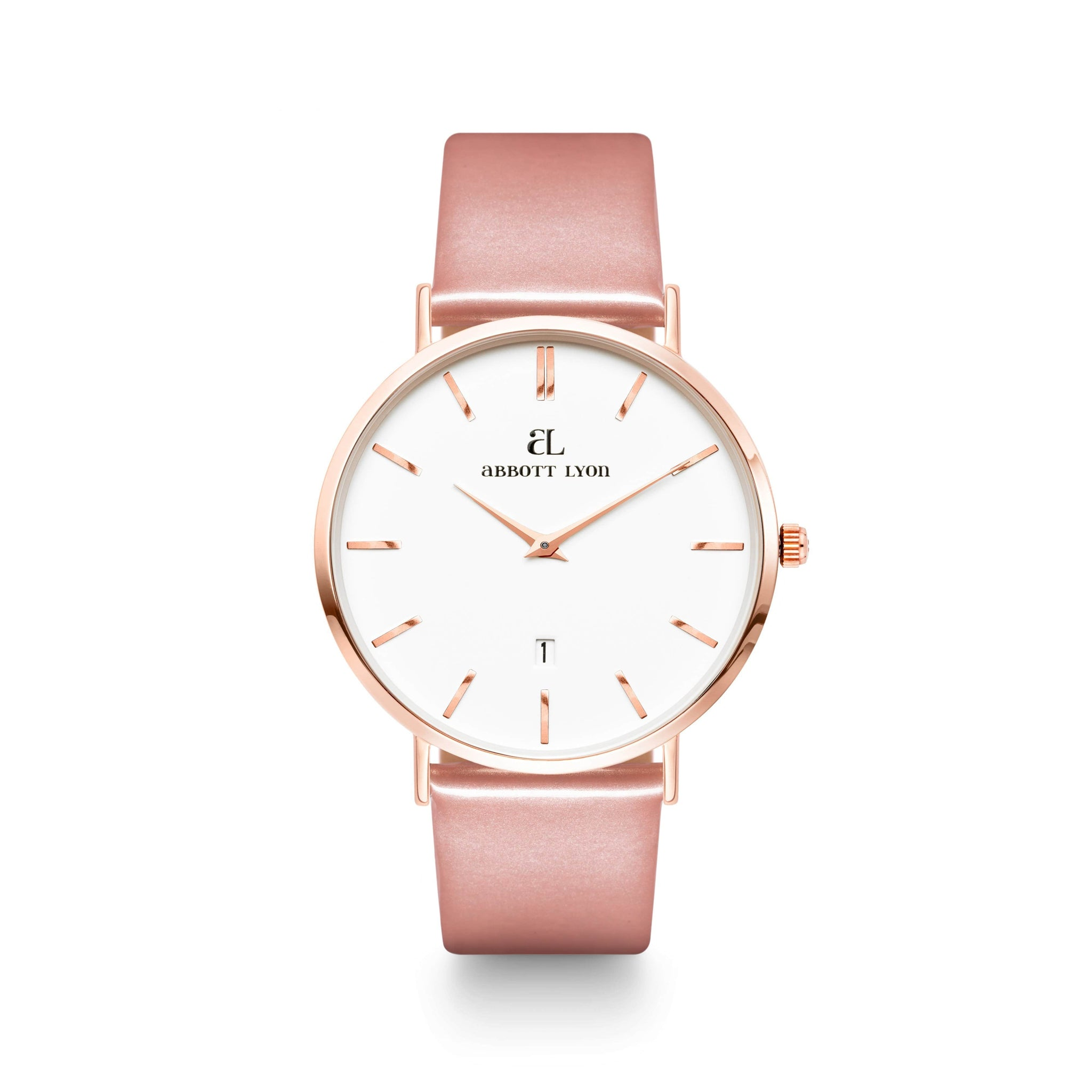 Blush Patent Armband 40 (Rose Gold)
