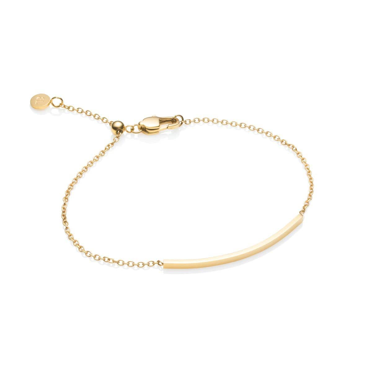 Little Luxe Bar Armband (Yellow Gold)