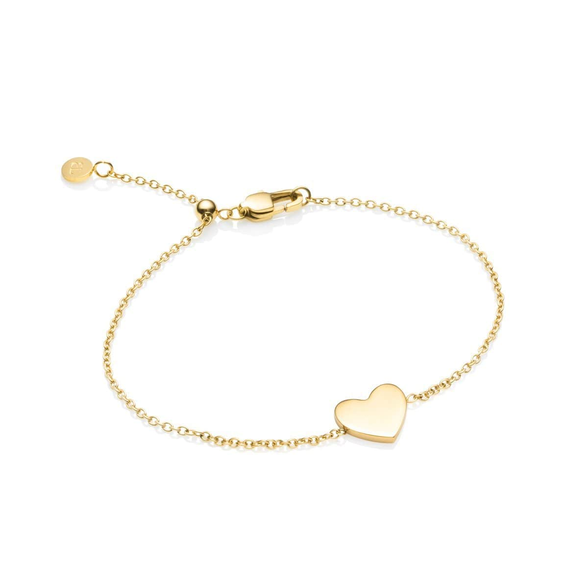 Little Luxe Heart Bracelet (Yellow Gold)