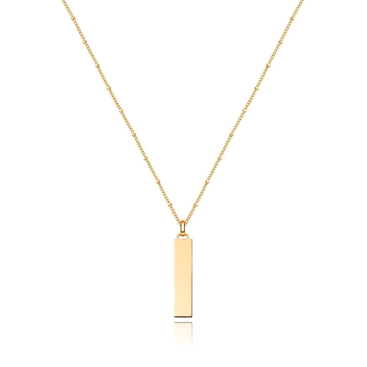 Large Lineare Charm Necklace (Gold)