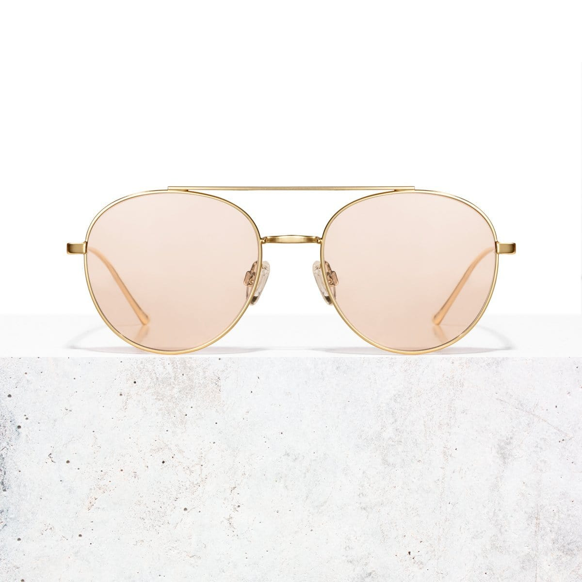Gold Clear Rose Vita Sonnenbrille