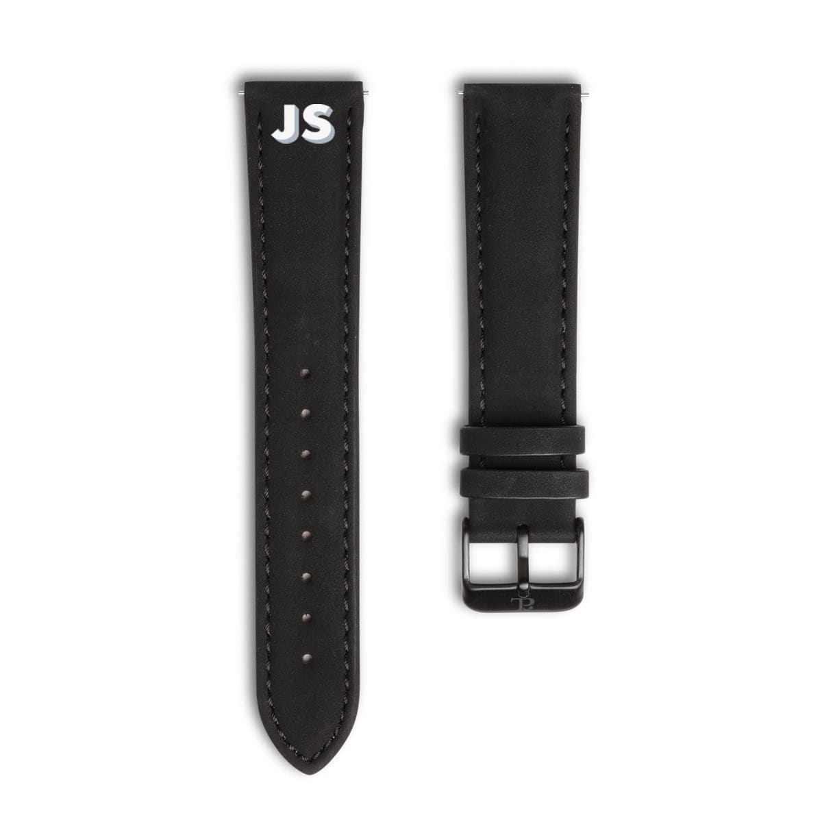Men's Jet Black 40 Strap (Gun)