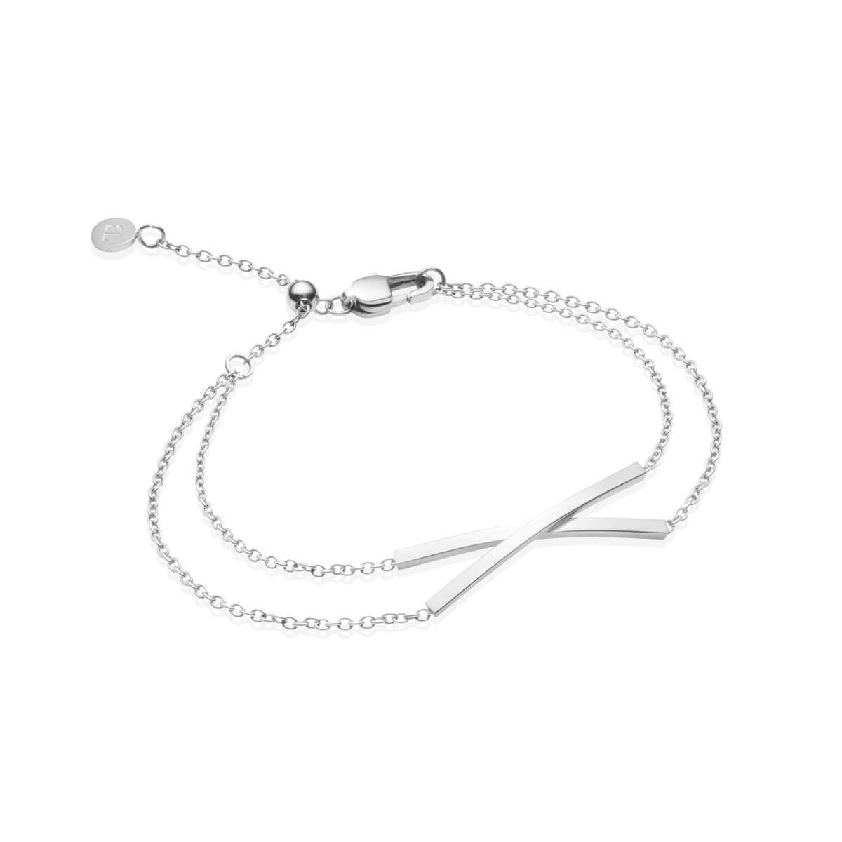 Little Luxe Twist Armband (Silver)