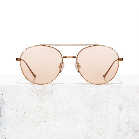 Rose Gold Clear Rose Vita Sonnenbrille