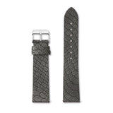 Charcoal Grey Alligator-Leder Armband 40 (Silver)