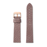 Mauve Pink Alligator-Leder Armband 40 (Rose)
