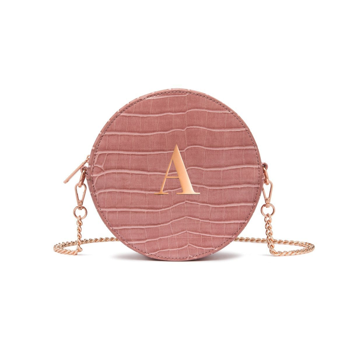 Nina Crossbody Bag (Dusky Rose/Rose Gold)