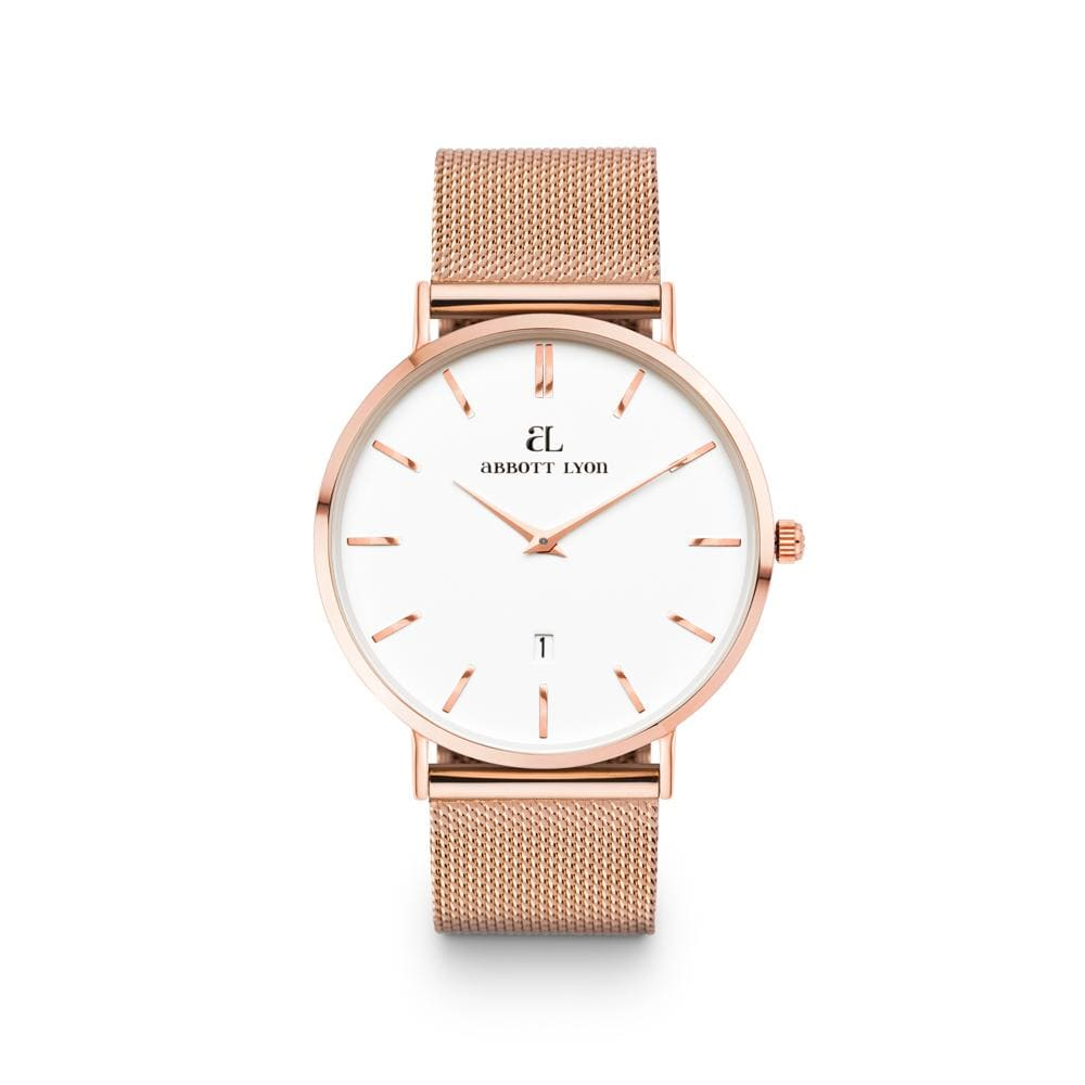 Rose Gold Kensington White 40 Mesh